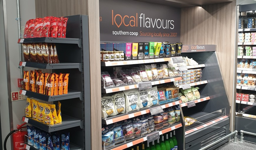 Local flavours at the new Southern Co-operative Convenience Store